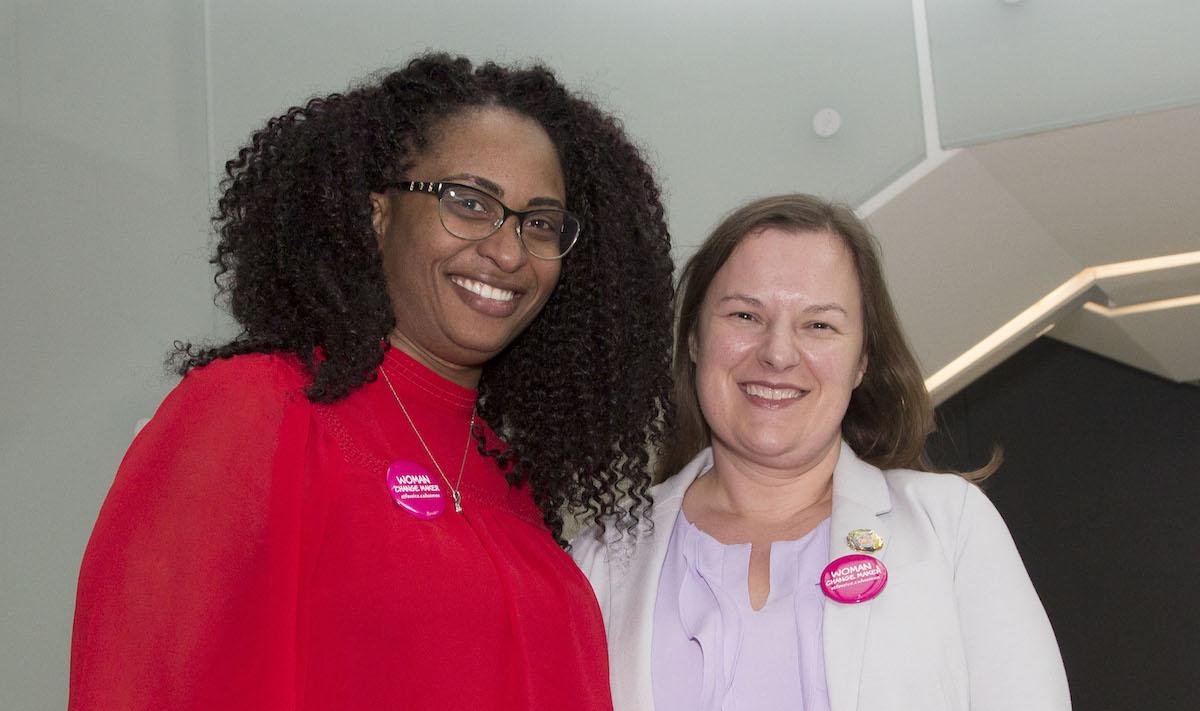 Kedisha Allen and April Elliott standing together
