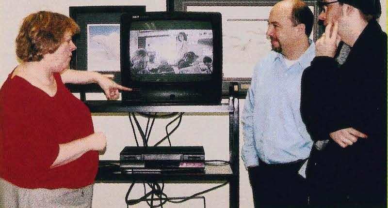 Emily Noble, ETFO's First Vice-President, Paul Degenstein and Gord McFarlane, Director, Postman Inc.