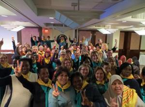 group of woman representatives at UN Commisson on the Status of Women