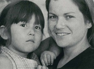 Memee Lavell with her daughter Autumn Sky