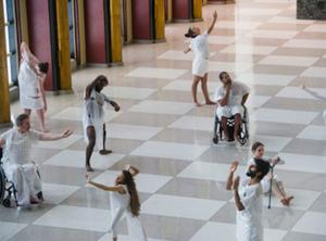 People of different abilities performing a dance piece