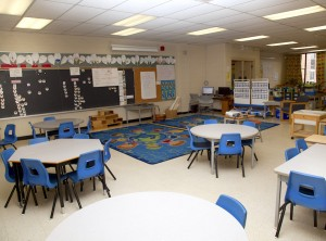 Photo of a grade school classroom