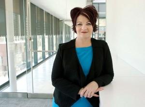 Sharon O'Halloran posing in ETFO building