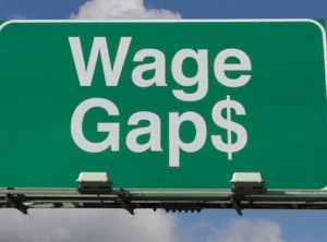 road sign with Wage Gap $ on it