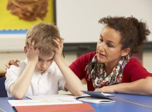 teacher counselling frustrated student