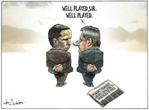 Artist comic of politicians