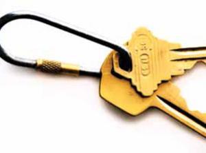 stock image of keys on keychain