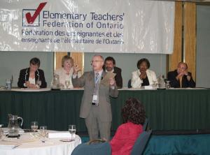 ETFO General Secretary speaking