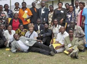 etfo members posing with ugandan teachers