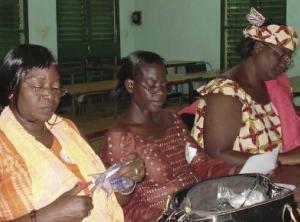 women sitting in classroom in africa