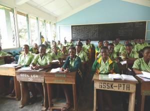 Classroom full of students overseas