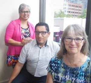 Shelly Jan, Elizabeth Kettle and Diego Olmedo standing together