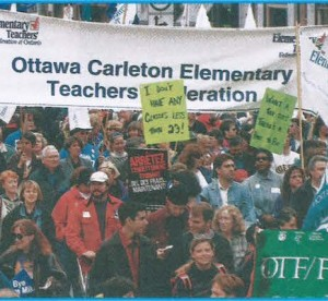 teachers at rally