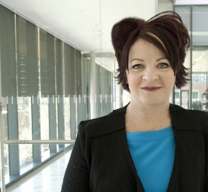Sharon O'Halloran posing in office