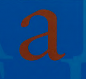 The letter a and b next to eachother