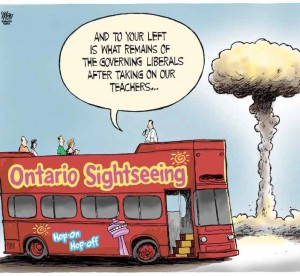 cartoon of ontario sightseeing bus