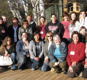 etfo members posing together on a deck