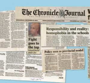 newspaper clippings of articles about safety