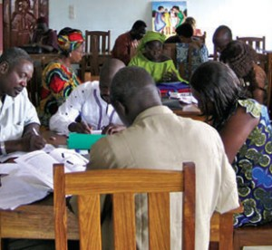 adult classroom setting in africa