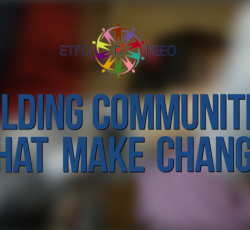 building communities that make change banner