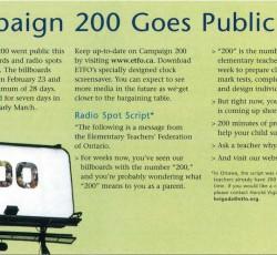 campaign 200 billboard