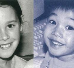 black and white photo of children