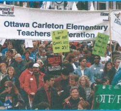 teachers at rally