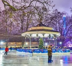 People on skating rink