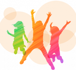 graphic of kids jumping in celebration