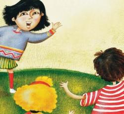 illustration of kids playing