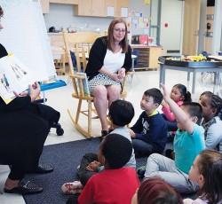 teachers reading to class