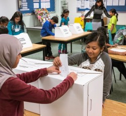 students voting