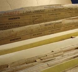 closeup of file folders in a cabinet