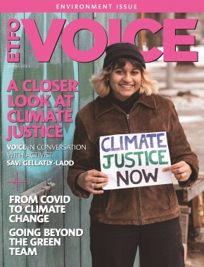 Front cover of ETFO Voice Spring 2021