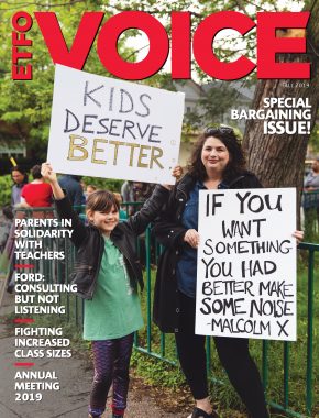 Cover of ETFO Voice Fall 2019