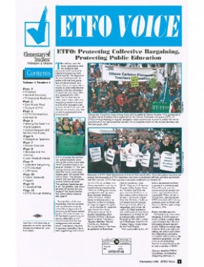 Cover of ETFO Voice Fall 1998
