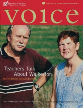 Cover of ETFO Voice Fall 2000