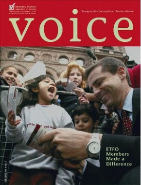 Cover of ETFO Voice Fall 2003
