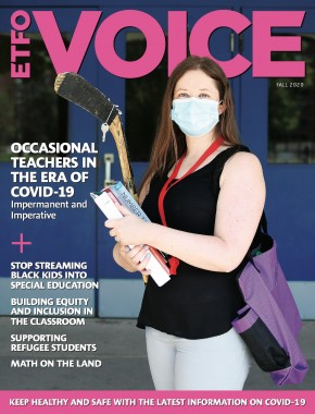 Cover of ETFO Voice Fall 2020