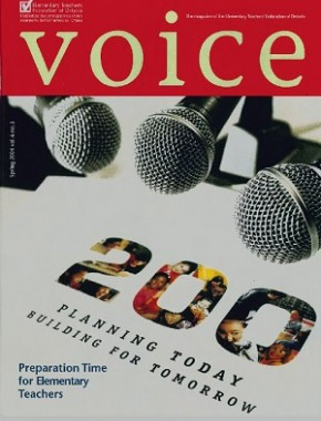 Cover of ETFO Voice Spring 2004