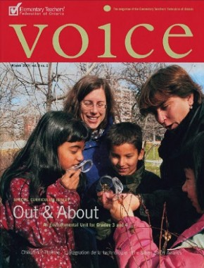 Cover of ETFO Voice Winter 2001