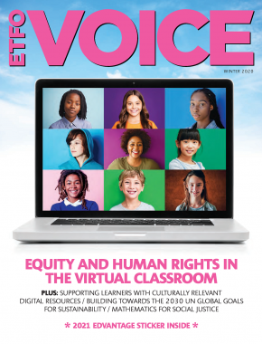 Cover of ETFO Voice Winter 2020