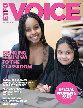 cover of etfo voice summer 2018