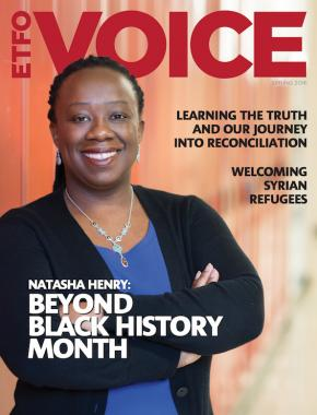 Cover of ETFO Voice Magazine Spring 2016