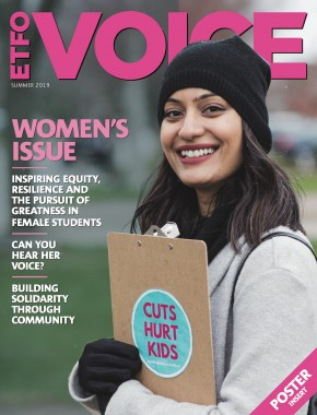 Cover of ETFO Voice Summer 2019