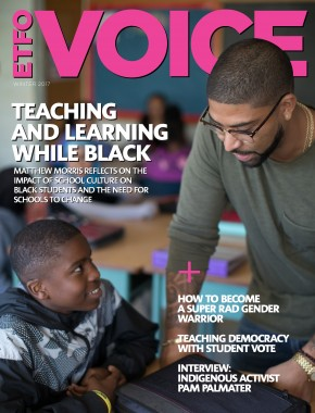 cover of etfo voice winter 2017