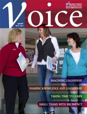Cover of ETFO Voice April 2007