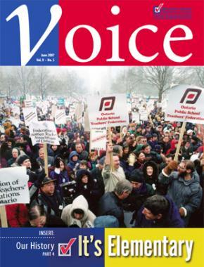 Cover of ETFO Voice June 2007