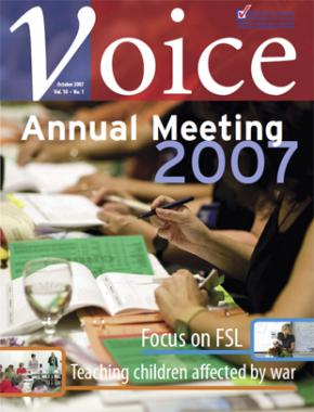 Cover of ETFO Voice October 2007