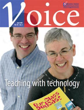 Cover of ETFO Voice April 2008
